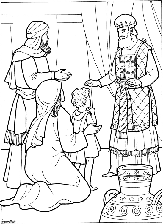 hannah and samuel coloring pages - photo#10